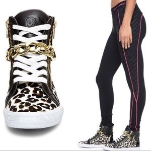 Just in🎄Rare Juicy Couture leopard wedge high top